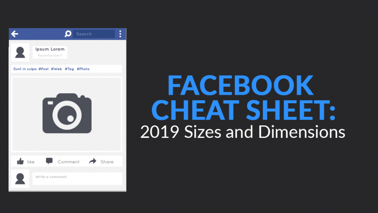 Facebook Cheat Sheet: 2019 Sizes and Dimensions | SkillsLab