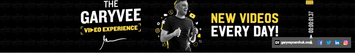 YouTube Branding Example, GaryVee