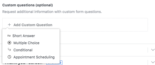 Facebook Lead Forms Custom Questions