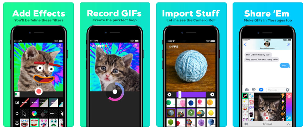 Video apps for Instagram, GIPHY Cam