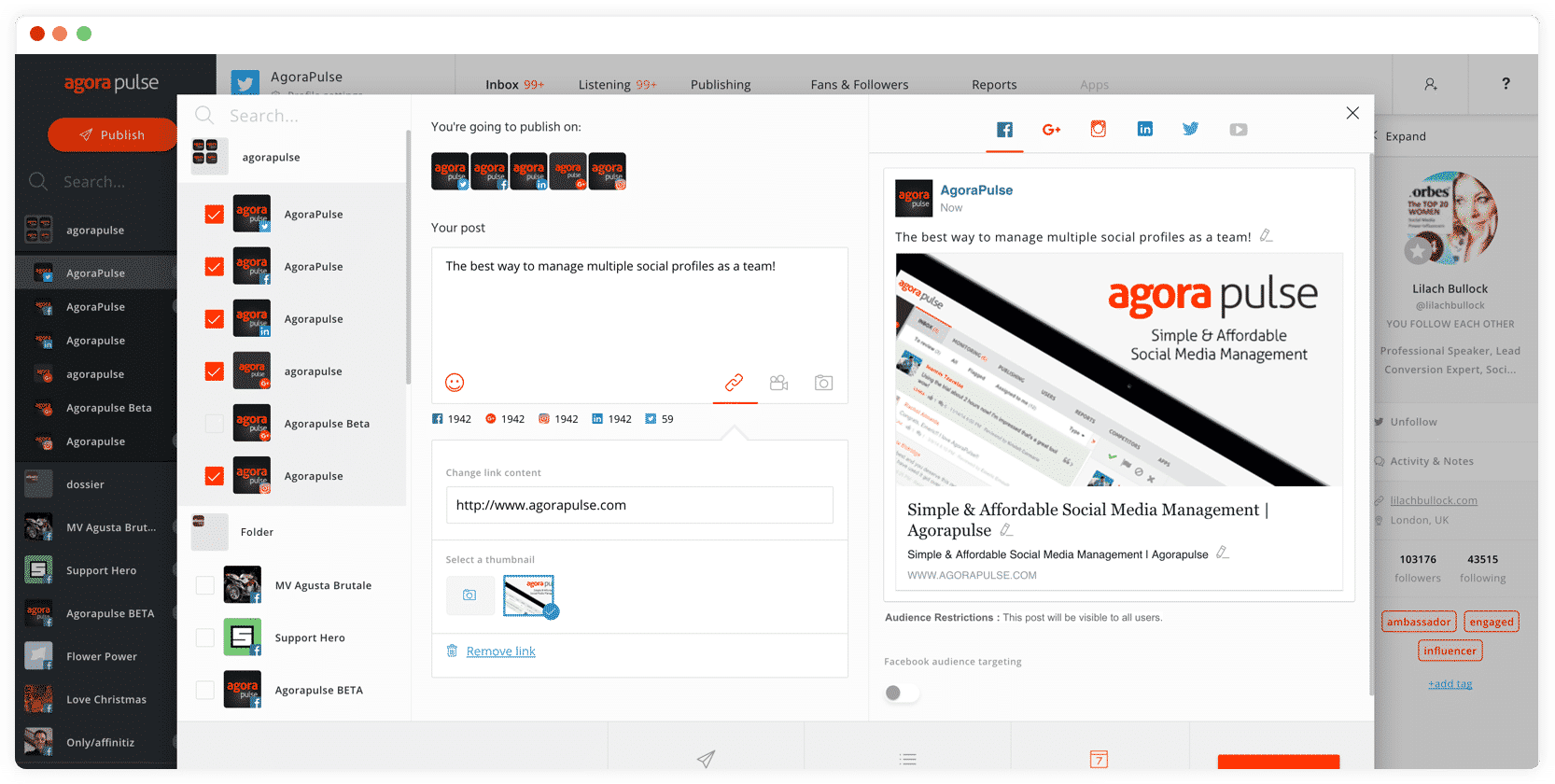 AgoraPulse, social media management