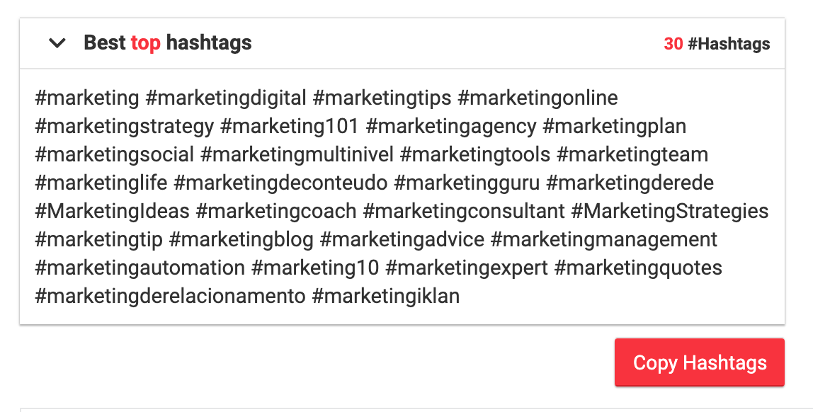 Top-Hashtags