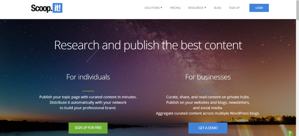 ScoopIt Social Bookmarking Site