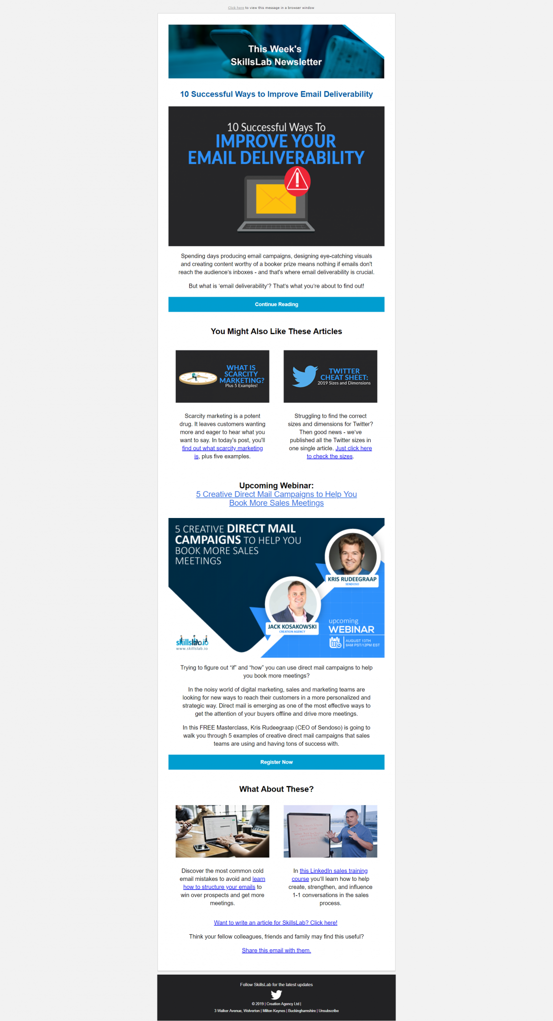 Newsletter Email Example